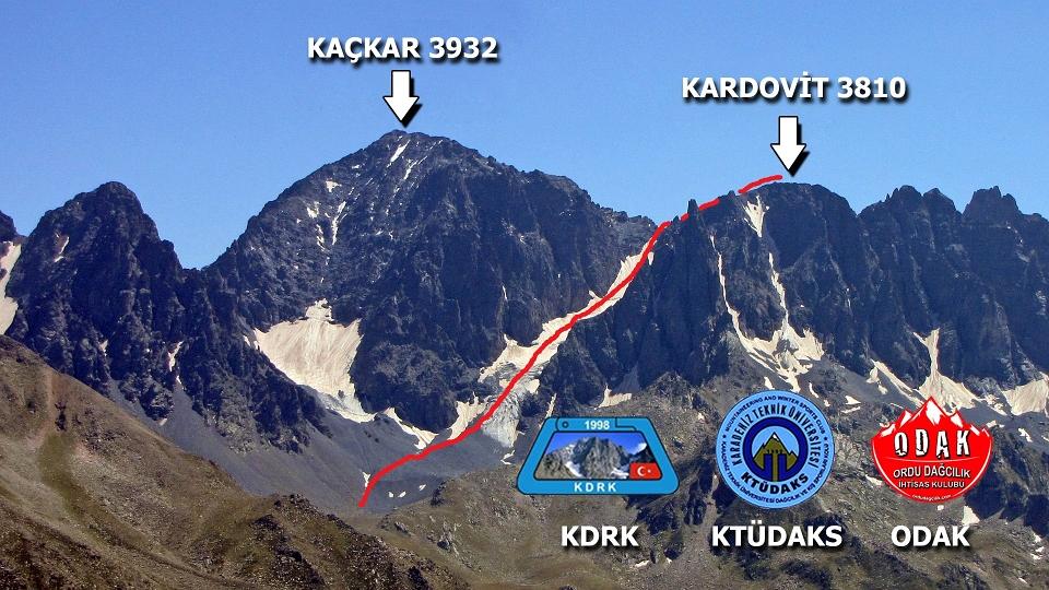 Kaçkar Kardovit Dağı 3810 mt.