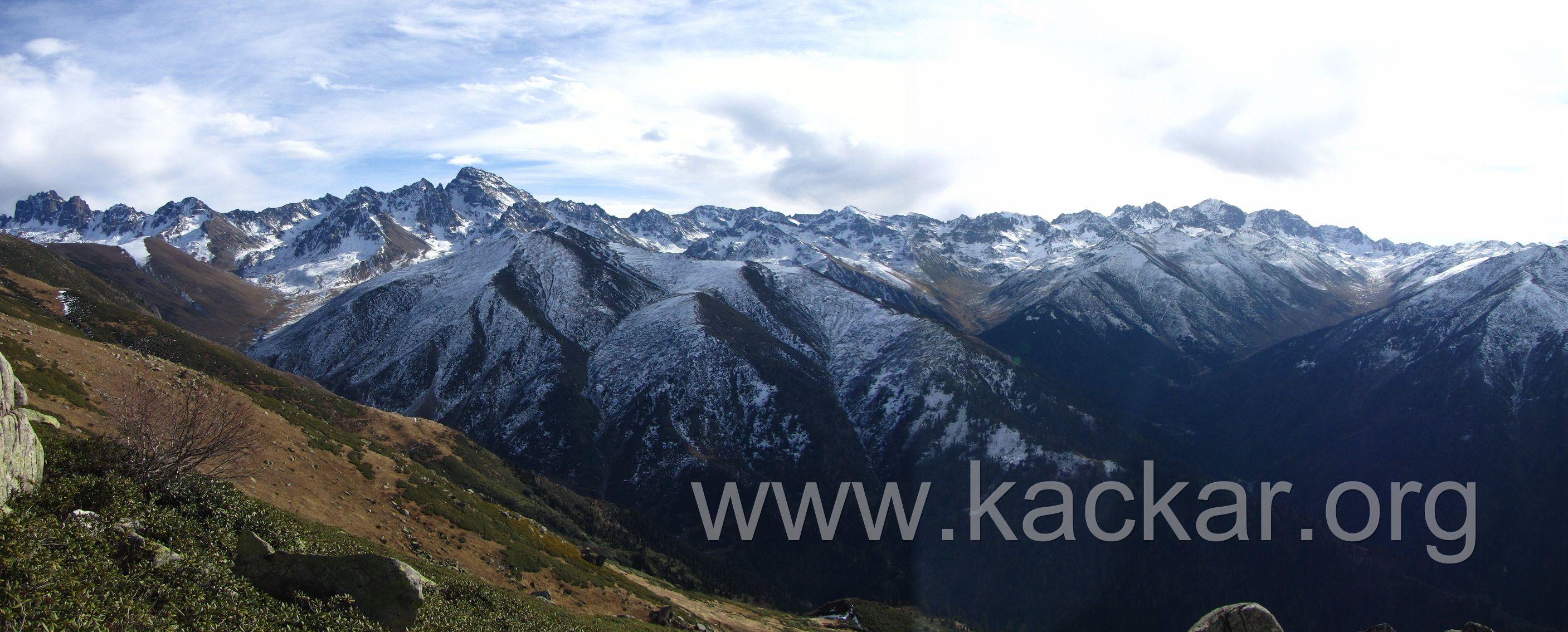 Huser Yaylası'ndan Kaçkar Dağları